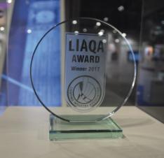LIAQA Award winner 2017 trophy photograph