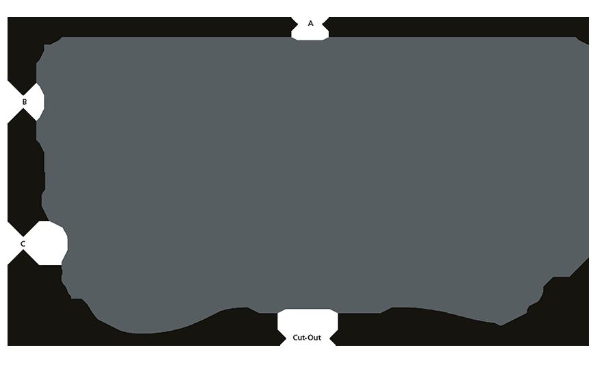 CITY LGL Asymmetric beam line drawing