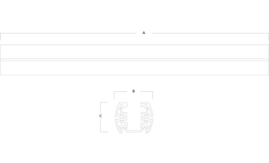 TRIO 3 circuit track system line drawing