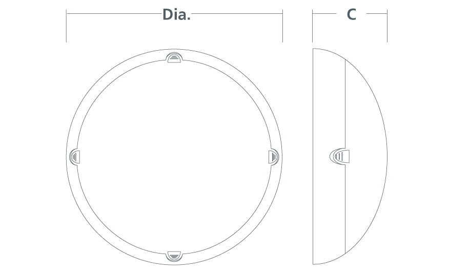 DELTA Circular bulkhead line drawing