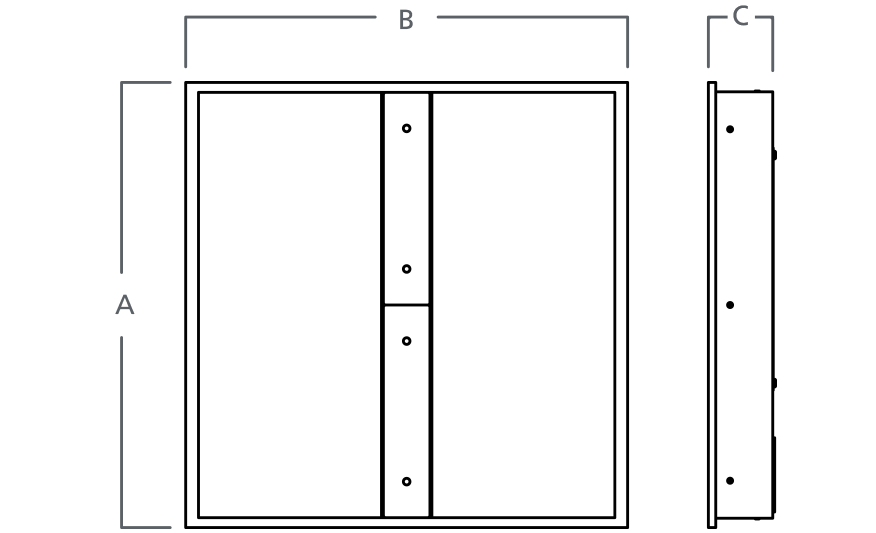 HORIZON FOCUS Recessed LED module line drawing