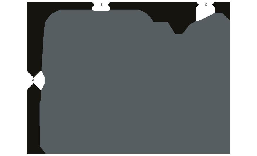 MARINER IP65 Floodlight line drawing