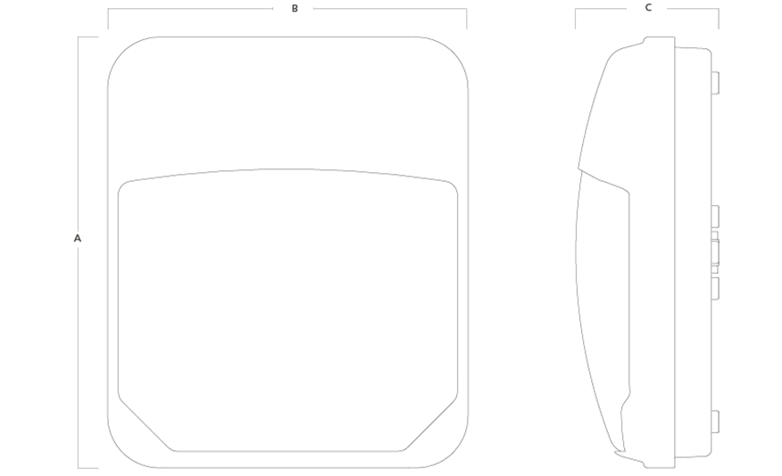 METRO LED bulkhead line drawing